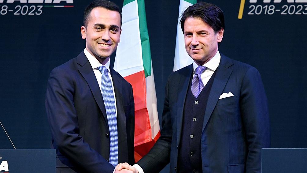 Luigi Di Maio y Giuseppe Conte