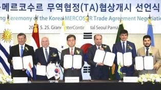 El Mercosur inicia las negociaciones con Corea del Sur para un acuerdo comercial