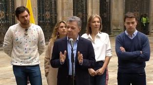 Santos votó por la mañana e invitó a los colombiamos a hacerlo masivamente