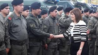 """Gendarmería fue """"muy manoseada por el poder político"""", dijo la ministra Patricia Bullrich"""