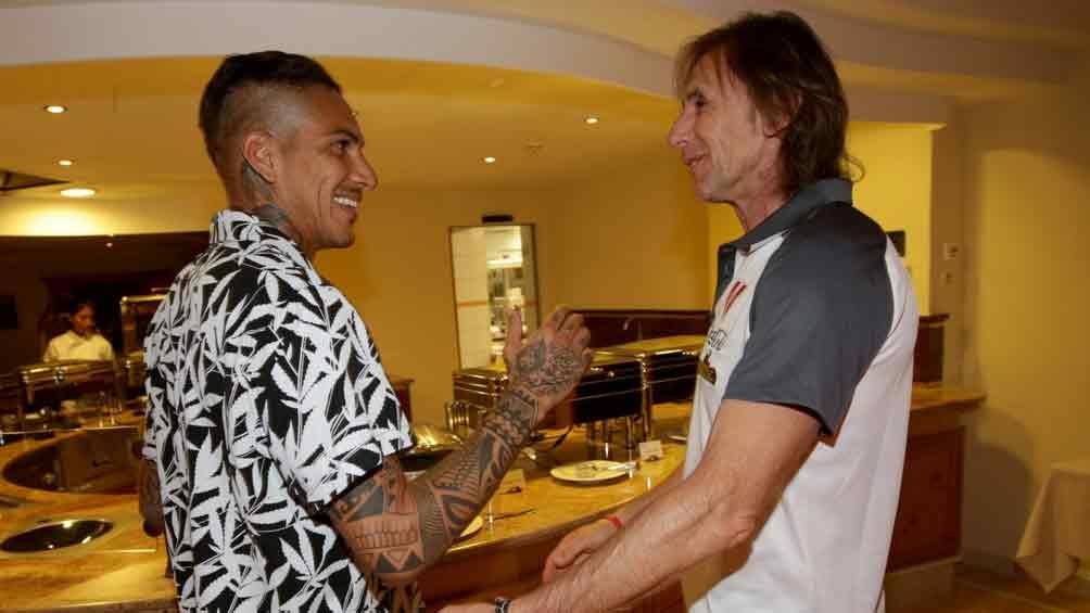 El goleador Paolo Guerrero y el técnico argentino Ricardo Gareca