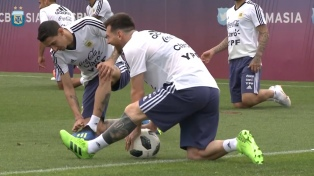 Argentina realizó su primer entrenamiento en Rusia