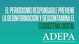 """En el """"Día del periodista"""", ADEPA relanza la campaña contra las noticias falsas"""