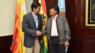 El gobernador Urtubey se reunió con Evo Morales en Cochabamba