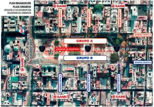 Operativo de seguridad: la Plaza del Congreso quedará dividida en dos
