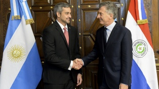 Macri recibió al presidente electo de Paraguay Mario Abdo Benítez