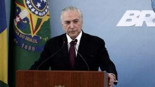 """Temer pidió a los brasileños que voten """"proyectos y no candidatos"""""""