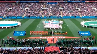 Rusia anotó en momentos claves y apabulló a Arabia Saudita