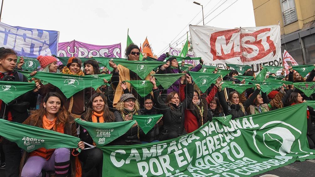Las activistas de la campaña para legalizar el aborto celebraron en Córdoba.