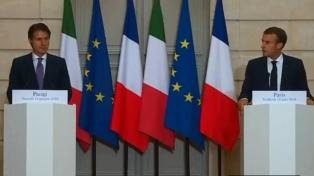 Macron y el flamante premier italiano superan la crisis y hablan de reforma migratoria