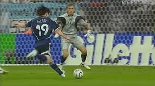 A 12 años del primer gol de Messi en un Mundial