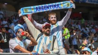 La Argentina y el himno emocionaron a los hinchas