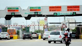 Los peajes porteños aumentaron su tarifa en un 35% promedio para autos