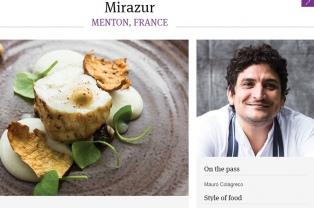 El restaurante Mirazur, de Mauro Colagreco, tercero entre los 50 mejores del mundo
