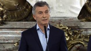 """Macri aseguró que la categoría de mercado emergente significará """"más trabajo para los argentinos"""""""