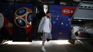 Argentina ya está en el estadio, a la espera del duelo ante Croacia