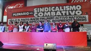 """Con un cronograma de cortes, el autodenominado sindicalismo combativo definió su """"plan de acción"""""""