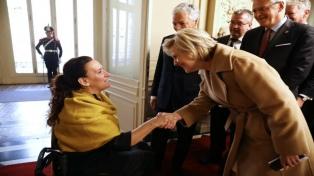 Michetti recibió a la princesa Astrid, de Bélgica, quien encabeza una misión comercial