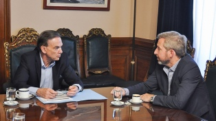 El ministro del Interior se reunió con Pichetto en el Senado
