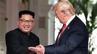 """Trump está evaluando """"tres o cuatro lugares"""" para la segunda cumbre con Kim"""