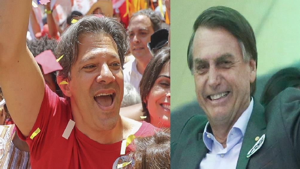 Fernando Haddad (PT) y Jair Bolsonaro (PSL)