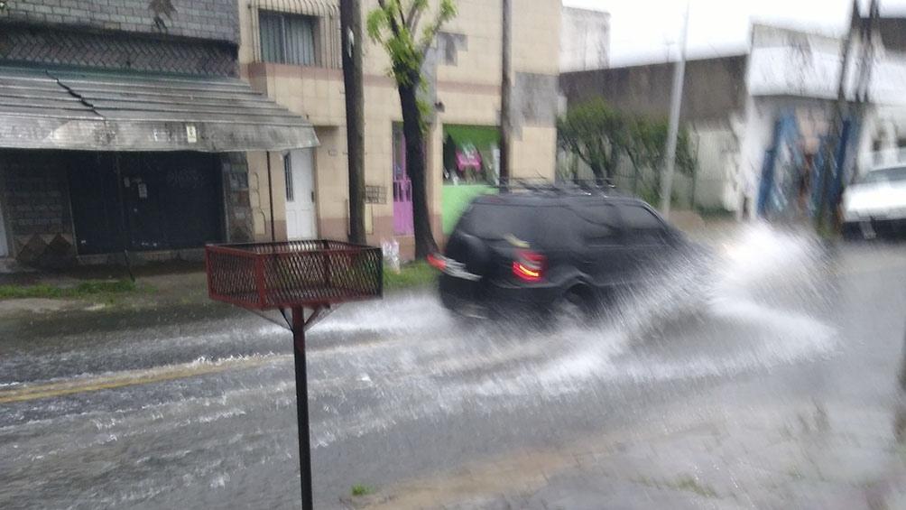 Una postal de la tormenta en Gerli