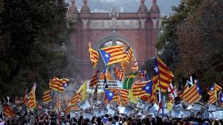 Protestas y manifestación multitudinaria en el 1er. aniversario del referéndum catalán