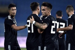 Argentina goleó a Irak en la previa del partido con Brasil