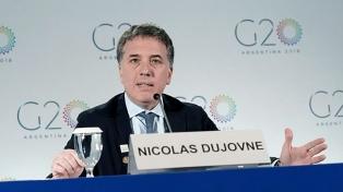 """Dujovne reclamó que el G20 condene a Venezuela por """"crímenes contra la humanidad"""""""