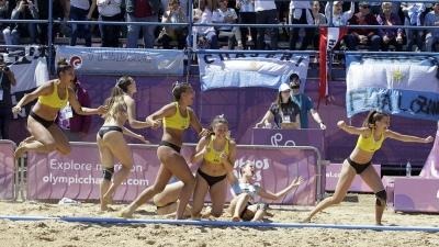 Las chicas del beach handball ganaron otra medalla de oro para la Argentina