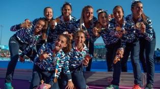 Medalla de oro en hockey 5 para Las Leoncitas