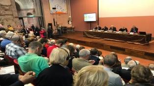 "Líderes religiosos del mundo advirtieron en Bolonia que ""sin paz no existe futuro"""