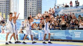 La selección de varones de básquet 3x3 clasificó a las semifinales