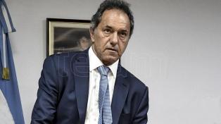 """Scioli afirmó que se votará """"entre ajuste o desarrollo"""""""