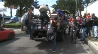 Migración interceptó la caravana de hondureños que intenta llegar a EE.UU.