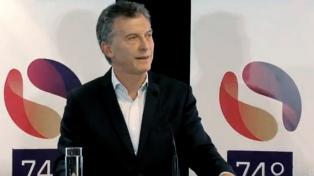 """Macri: """"En la Argentina de hoy, cada persona puede decir libremente lo que piensa"""""""