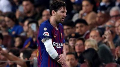 Messi comenzó la recuperación de su fractura en el brazo derecho
