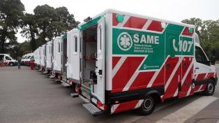 Las ambulancias del SAME tendrán equipo para triage y los médicos mochilas con oxígeno