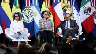 Faurie y Michetti inauguraron la Cumbre de presidentes de parlamentos del G-20