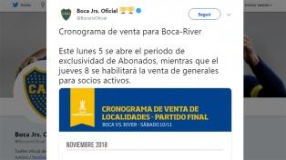 Boca denunció la reventa de entradas para la Superfinal del sábado