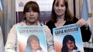 Declaran testigos en un intento por reactivar la búsqueda de Sofía Herrera