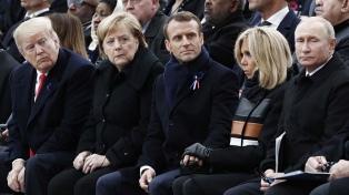 """Macron advierte sobre """"viejos demonios"""" a 100 años del fin de la Primera Guerra"""