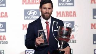 Messi recibió el premio Alfredo Di Stéfano al goleador de la Liga