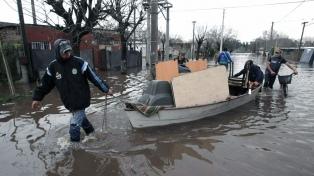 Aún quedan 1810 evacuados por el temporal que afecta a 16 municipios en Buenos Aires