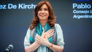 """Cristina Kirchner: """"Estoy segura que podemos volver a construir un país mejor"""""""