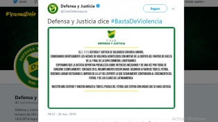 Defensa y Justicia, el único que se solidarizó con Boca por los ataques