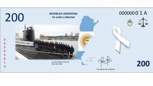 Alumnas diseñaron un billete en honor a los héroes del ARA San Juan