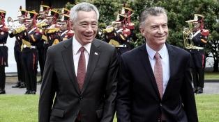 Macri recibió al Primer Ministro de Singapur en la primera actrividad oficial