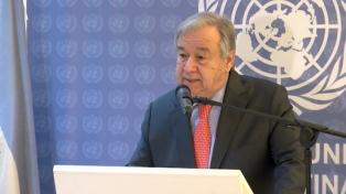 """Guterres: """"La cooperación sacó a millones de personas de la pobreza"""""""