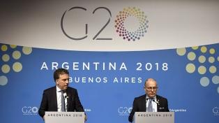 """Para Faurie y Dujovne el documento final revelará el """"consenso disponible"""" entre naciones"""